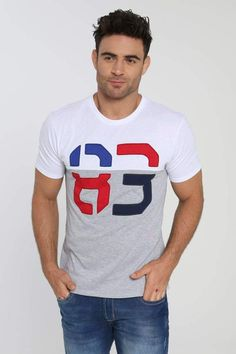 Camiseta Manga Corta Cuello Redondo Blanco Casual T Shirts, Casual Wear, Men Casual, Camisa Polo, Boy Outfits, Casual Outfits, Samara, Bolivia, Active Wear