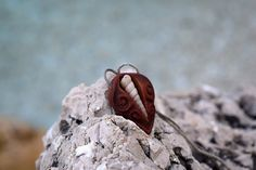 Organic AVOCADO SEED and SHELL necklace  Natural jewelry