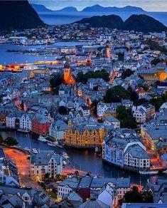 In Alesund, Norway.