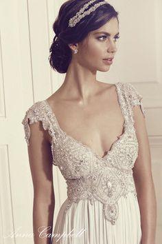 Anna Campbell Annabella Dress | Vintage-inspired embellished wedding dress