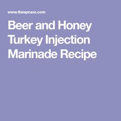 This turkey injection combines a traditional Cajun flavor with beer and honey to give you a well-balanced​ flavor. Turkey Marinade, Turkey Brine, Injection Marinade Recipe, Turkey Recipes, Chicken Recipes, Cajun Seasoning, Cooking Turkey, Pork Dishes, Spice Mixes