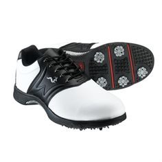 Woodworm Golf PLAYER Golf Shoes WHITE/BLACK. £29.99