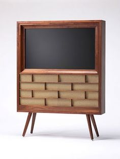 TV console.  Wilkerson furniture creates tv cabinets to house today's flat screens. I want this...or have someone make me this!!!!