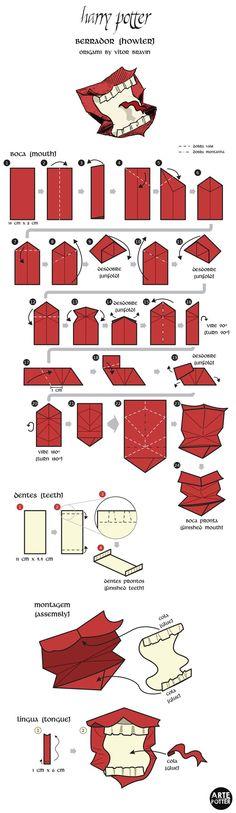 Origami Design - Howler by vitorbravin.deviantart.com on @deviantART:
