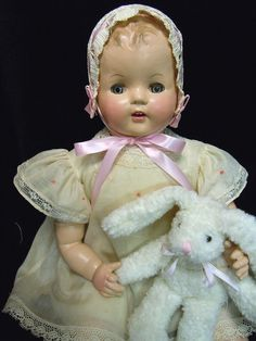 "Vintage Composition Baby Doll 1930's 40's Restored 22"" So Adorable 