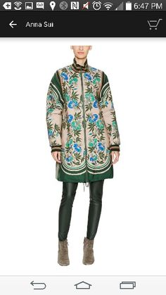 Anna sui printed long jacket