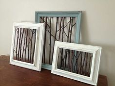 Diy > with birch branches? Put a back on it - painted green for contrast?