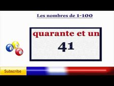 Learn French - numbers - counting to 100 in French - Los numeros en Francés