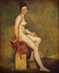 """Mademoiselle Rose"", Delacroix. Año1824,museo del Louvre."