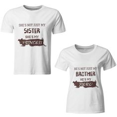 4bb2f5c77c iberry s Rakhi Special Brother-Sister Print Pure Cotton Casual Combo Tshirts   Amazon.in