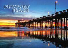 Balbo Island postcard images | Huntington Beach pier Sunset, Birds, Surfer, Sunset, beautiful ...