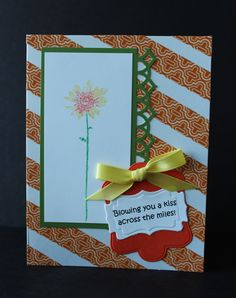 Daisy card - image stamp was colored with pens then stamped.