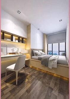 Small Room Design Bedroom, Bedroom Furniture Design, Home Room Design, Bedroom Decor, Girl Bedroom Designs, Small House Interior Design, Bedroom Layouts, Apartment Design, House Rooms