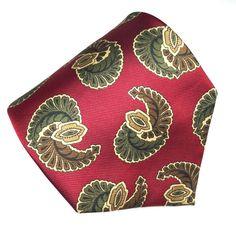 Robert Talbott Best of Class Silk Necktie Tie Paisley on Dark Red Twill EUC #RobertTalbott #NeckTie