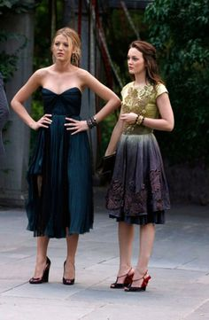 Party Dress Outfits Inspired by Blair Waldorf and Serena van der Woodsen on Gossip Girl Gossip Girl Party, Gossip Girl Blair, Gossip Girls, Gossip Girl Fashion, Blair Waldorf Stil, Blair Waldorf Dress, Party Dress Outfits, Girls Party Dress, Chuck Bass