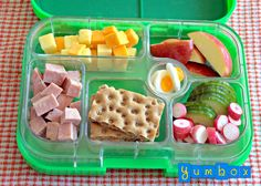 Image of Yumbox Leakproof Bento Lunchbox - Pomme Green Kids Lunch For School, Healthy Lunches For Kids, Toddler Lunches, Kids Meals, Healthy Snacks, Kid Lunches, Toddler Food, Yummy Snacks, Healthy Recipes
