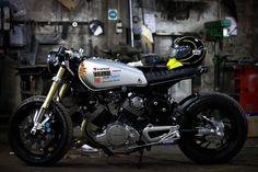 RocketGarage Cafe Racer: Virago XV 750 by Diogo Oliveira