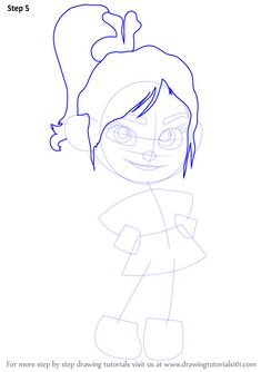 Learn How to Draw Vanellope von Schweetz from Wreck-It Ralph (Wreck-It Ralph) Step by Step : Drawing Tutorials Disney Character Drawings, Disney Drawings, Disney Characters, Disney Drawing Challenge, Vanellope Von Schweetz, Wreck It Ralph, Cartoon Movies, Step By Step Drawing, Drawing Tutorials