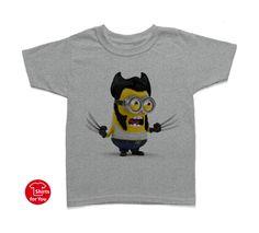 60faa251f68 Wolverine Minion Kids T Shirt Gray. sendi · Minions T-Shirts