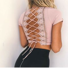 """Back Lace Up Crop Top – amylynne USE CODE """"PINTEREST"""" FOR 10% OFF YOUR FIRST ORDER ! ! !"""