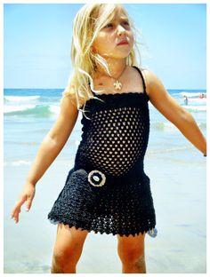 crochet girls dress or beach cover up by beijobaby on Etsy CROCHET/TRICOT INSPIRATION: http://pinterest.com/gigibrazil/crochet-summer/