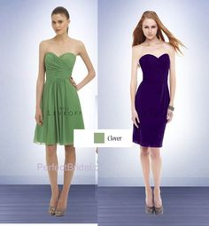 Meeta: I would up going with the dress on the right with the color on the left.  You can't tell because the image is digitized, but it is a chiffon dress as well.