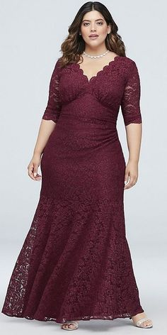 62 Best Ideas Plus Size Bridesmaid Dress With Sleeves Classic Style Bridesmaid Dresses With Sleeves, Lace Wedding Dress With Sleeves, Bridesmaid Dresses Plus Size, Lace Sleeves, Plus Size Wedding Guest Dresses, Vestidos Plus Size, Plus Size Gowns, Plus Size Outfits, Necklines For Dresses