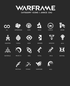 Fan art UI Ability Icons for Overwatch [ Adobe Photoshop ] Category Icons for Warframe. Game Ui Design, Icon Design, Logo Design, Graphic Design, Yin Yang, Graphic Pattern, Warframe Art, Game Interface, Game Icon