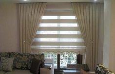 Stor perde modelleri #WhiteCurtains Fabric Blinds, Curtains With Blinds, Modern Curtains, White Curtains, Living Room Blinds, Home Living Room, Curtain Inspiration, Diy Home Decor, Room Decor
