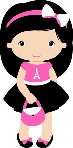 View all images at PNG folder Cute Baby Drawings, Art Drawings For Kids, Kawaii Cross Stitch, Paris Birthday Parties, I Love Paris, Paris Paris, Paris Girl, Baby Clip Art, Girl Clipart