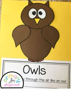 Owl Craft With Writing Prompts/Pages #owlcraft