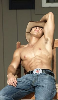 Ride 'em Cowboy - Sexy Muscles, Arms, Abs, Chest and Belt Buckle - Eye Candy ---- Hot Guys