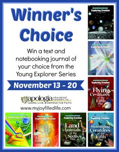 apologia scienc, explor seri, journals, apologia giveaway, homeschool life, contest, homeschool idea, apologia land, kid