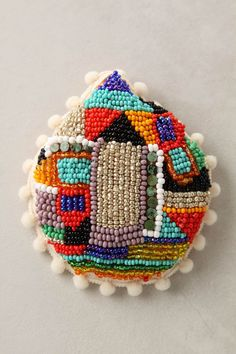 embroidered and beaded brooches