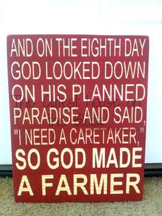 So God Made a Farmer by TheCutestHouse on Etsy, $15.00