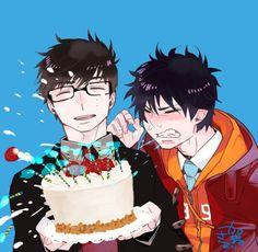 #KazueKatô qui célèbre l'anniversaire de #Yukio et #RinOkumura avec ses deux version ^^ (27 décembre)