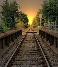 Sunset Rails, Rye, England