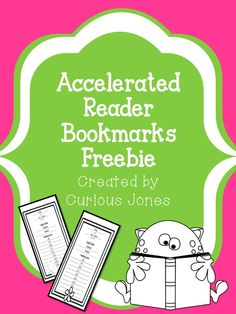 Eight FREE  bookmarks (four seasonal and four general) which will help your students keep track of their Accelerated Reading level and their login and pass code.   I also included plain bookmarks for those who do not use the AR system.  These were created by Curious Jones