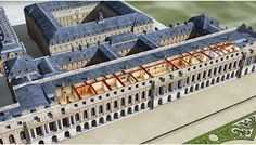 SketchUp model of Versailles in 1832 with details of the interior design/architecture for the princess apartments. Versailles Garden, Palace Of Versailles, Classical Architecture, Ancient Architecture, Monuments, Palace Garden, Palace Hotel, Marie Antoinette, Oh The Places You'll Go