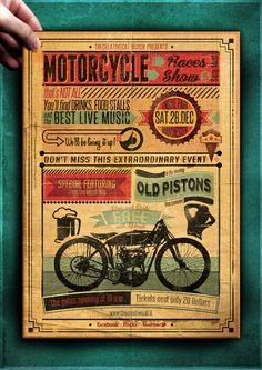 "The Flyer Poster Templates ""Vintage Motorcycle Vol. 7"" You'll find it on my website www.thecreativecat.it"