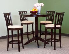Gorgeous pub-height set - the light/dark contrast is super modern (and only $298 for the whole set!)
