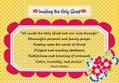 """Young Womens Lesson hand out for January's lesson """"What are the roles of the Holy Ghost. Holy Ghost Lesson, Holy Ghost Talk, Baptism Talk, Young Women Lessons, Because He Lives, Prayer For Family, Activity Days, Lds, Holi"""