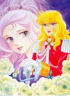 ベルサイユのばら:姫野美智 絵 - The Rose of Versailles, illustrated by Michi Himeno