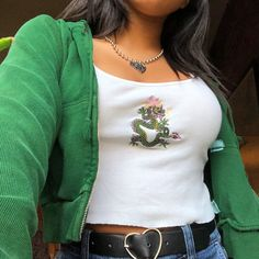 my outfit 💗🌱🐲 discovered by kelly ️ on We Heart It - Source by jjperlewitzz - Cute Casual Outfits, Retro Outfits, Mode Outfits, Vintage Outfits, Summer Outfits, Fashion Outfits, Fashion Hacks, Edgy Outfits, Fashion Clothes