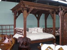 Amazing carved bed