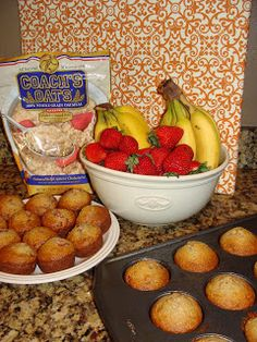 Low-Fat Strawberry Banana Oat Muffins