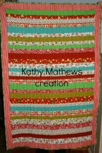 Its not too late to start a Christmas quilt! Here is some great inspiration from Kathy Mathews of Quilting Sewing Creating! She made hers in just a week! The possibilities are endless with thousands of fabrics, including a large selection of Christmas and holiday fabric from the Fabric Shack at http://www.fabricshack.com/cgi-bin/Store/store.cgi
