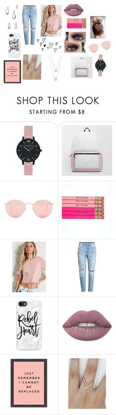 """Rain"" by rahi445 ❤ liked on Polyvore featuring Old Navy, Olivia Burton, Ray-Ban, Forever 21, H&M, Casetify, Lime Crime and Michael Kors"