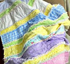 Flannel Baby Rag Quilt tutorial