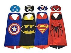 Superhero Capes and Masks 4 set Children Party Dress up Costumes FIGMOON http://www.amazon.com/dp/B01B4KIIM6/ref=cm_sw_r_pi_dp_kyK1wb1B4KR4V